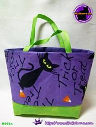 Handmade Tiny Tote bag Featuring Black cat