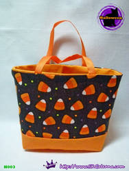 Handmade Tiny Tote Bag Featuring Candy Corn