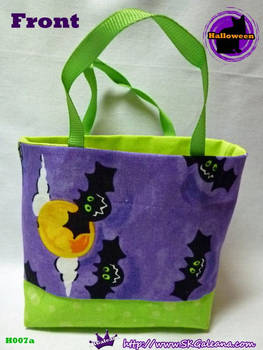 Handmade Tiny Tote Bags Featuring Cute Bats