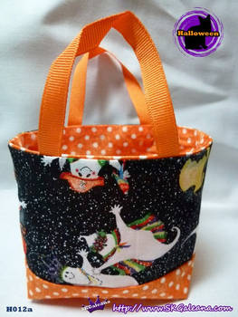 Handmade Tiny Tote Bag Featuring Ghosts