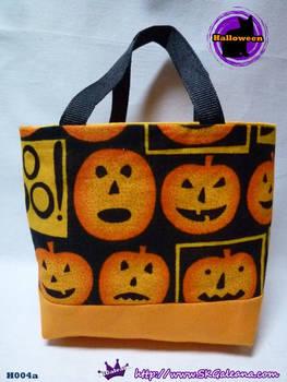 Handmade Tiny Tote Bag Featuring pumpkins