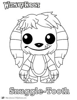 Wetmore Forest Snuggle-Tooth coloring page