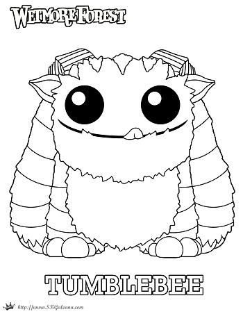 Wetmore Forest Tumblebee printable coloring page by