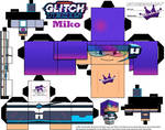 Cubeecraft of Miko from Glitch Techs by SKGaleana