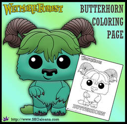 Wetmore Forest Butterhorn printable coloring page