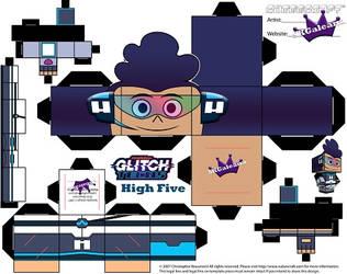 Glitch Tech High Five Cubeecraft by SKGaleana