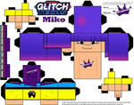 Glitch Tech Miko 2  Cubeecraft by SKGaleana small by SKGaleana