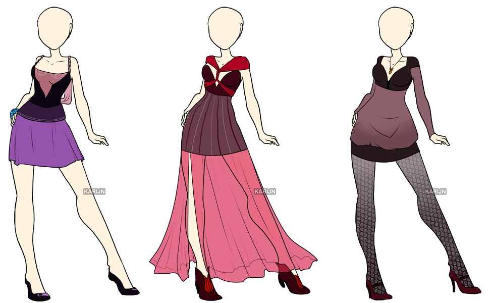 fashion adoptables 4 closed by karijn s basement on deviantart