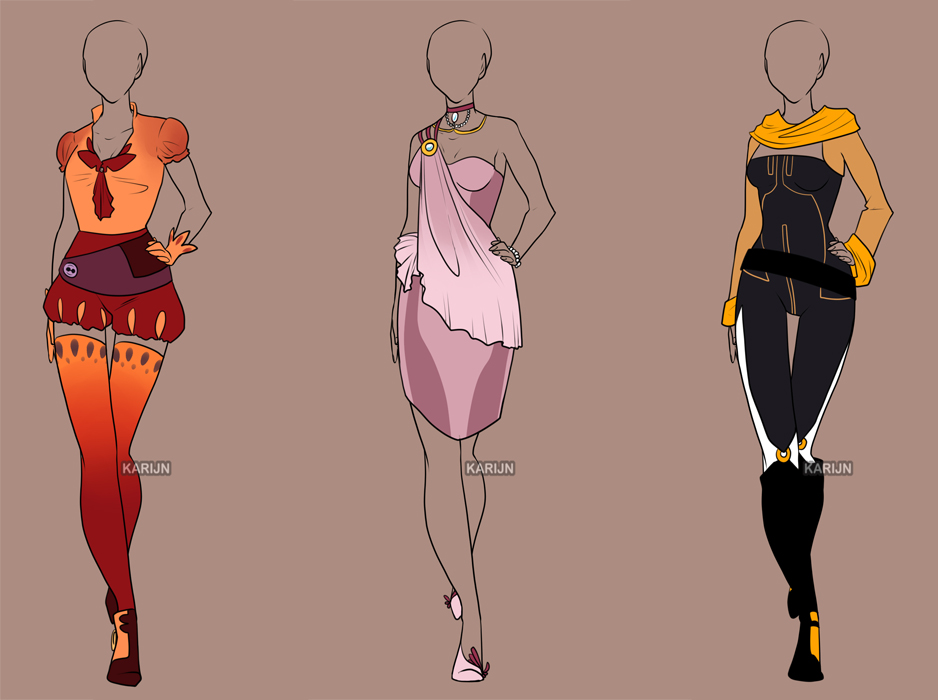 Fashion Adoptables 7 - CLOSED by Karijn-s-Basement on DeviantArt