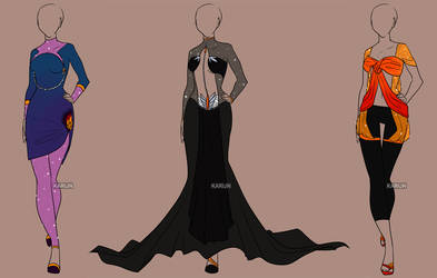 Fashion Adoptables Auction 4 - CLOSED by Karijn-s-Basement