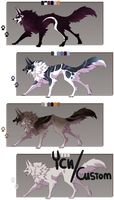 Wolf/Canine Designs Auction 2 - CLOSED by Karijn-s-Basement