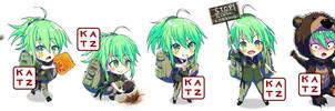 Forest Girl Chibi Commision by Katazukimoto