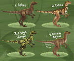 OPEN Velociraptor Morph Point Auction (1/4 Taken)
