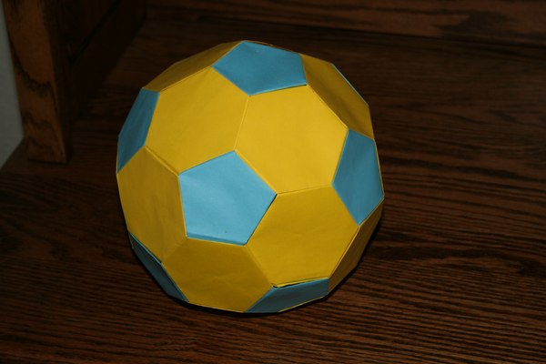 origami soccer ball by mugglehater on deviantart