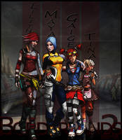 The Cast of Borderlands 2 by KSE25