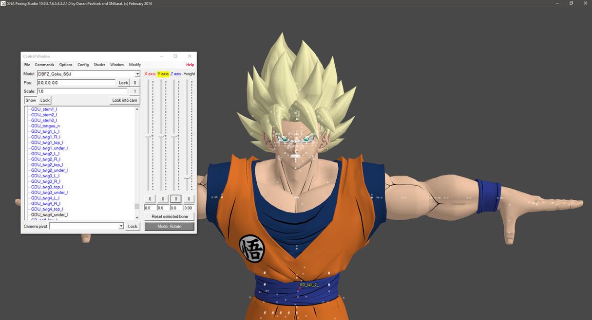 DBFZ Goku SSJ WIP by KSE25