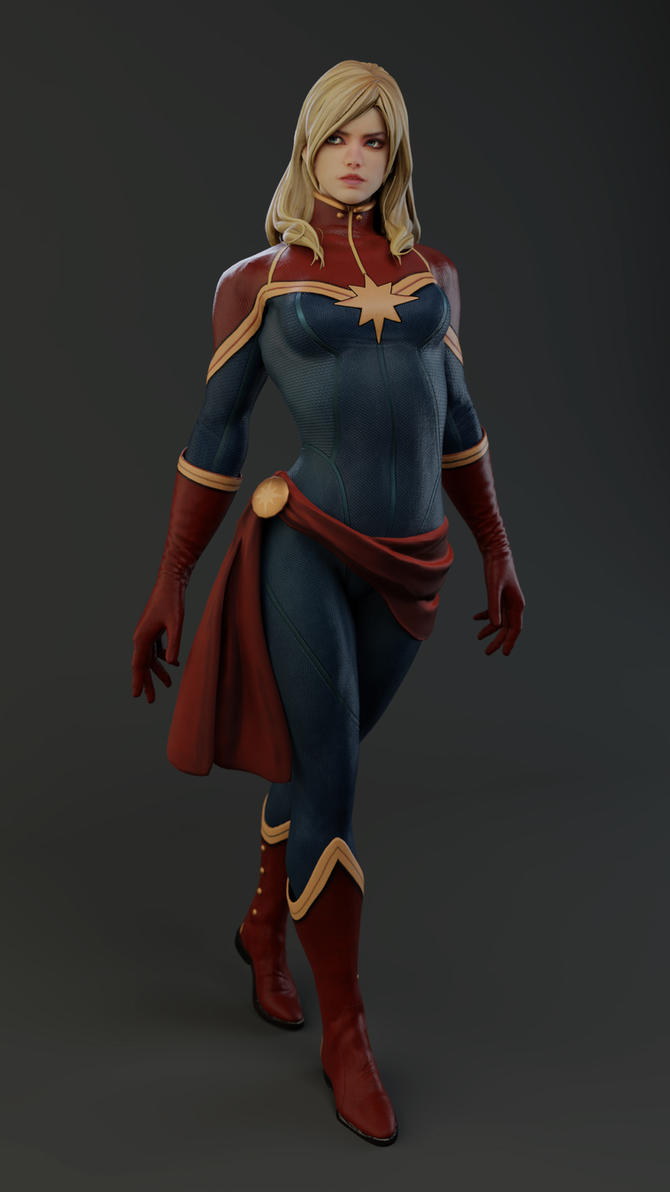 Captain Marvel 2018 Render by KSE25
