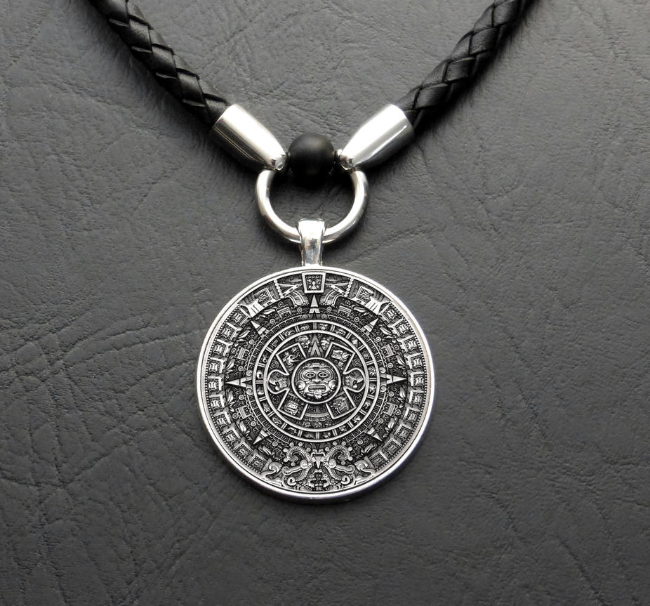 Jewellery Calendar Design : My aztec calendar coin in new design necklace by