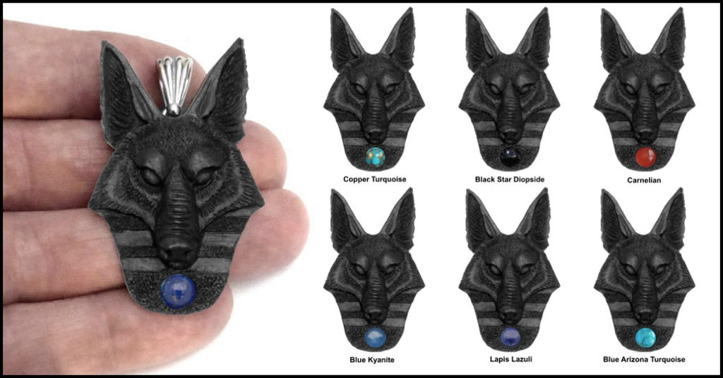 Anubis as wolf black finish pendant by goodspiritwolf on deviantart anubis as wolf black finish pendant by goodspiritwolf aloadofball Images