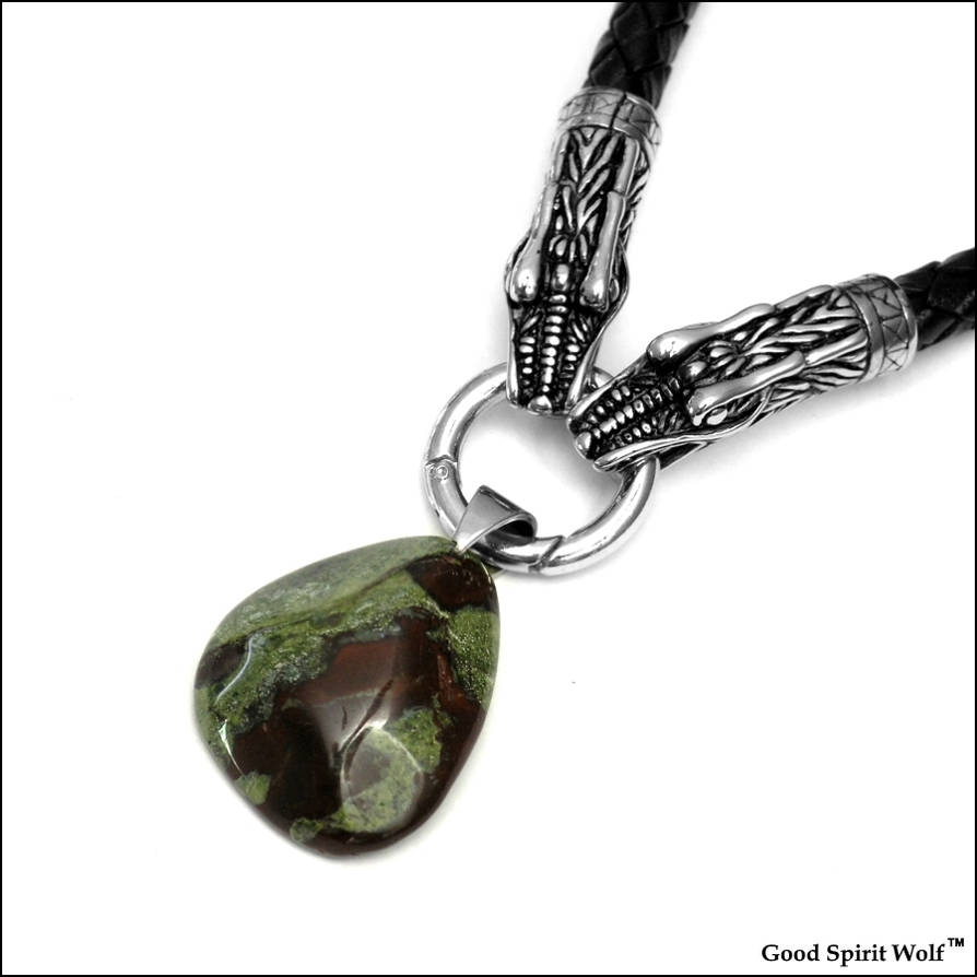Dragon Blood Stone Nugget Necklace - V2 by GoodSpiritWolf on