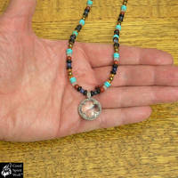 Viking Bead Necklace with Gotland Crystal Pendant by GoodSpiritWolf
