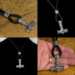 Large Steel Mjolnir On Cinch Loop Leather Necklace by GoodSpiritWolf