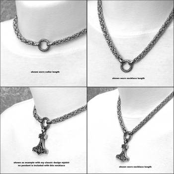 The Essential Adjustable Chainmaille Necklace by GoodSpiritWolf