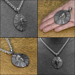 Raven Spirit Warrior Shield Medallion w/Necklace by GoodSpiritWolf