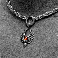 Chainmaille Day Collar with Blood Angel Pendant by GoodSpiritWolf