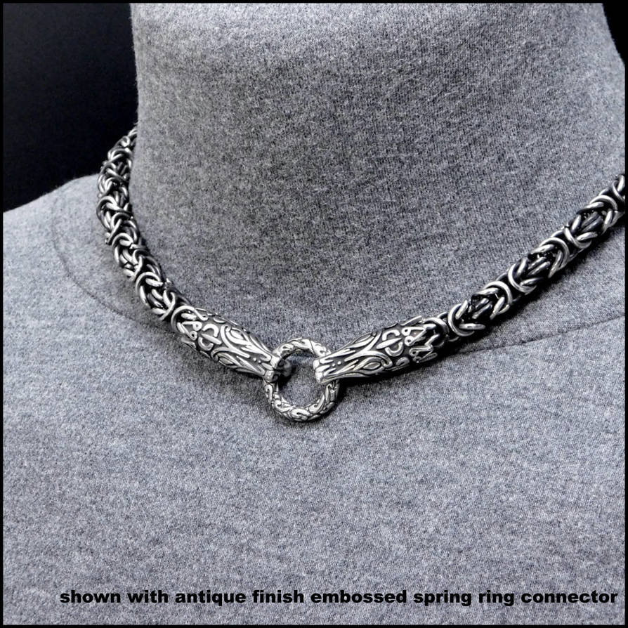 Dragon Warrior Chainmaille  Necklace