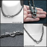 Fenrir Guardian Wolves Chainmaille Necklace by GoodSpiritWolf
