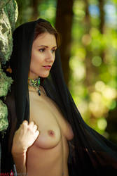 Witch in the Woods - Bare Breasts and Beauty by Mac--Photo