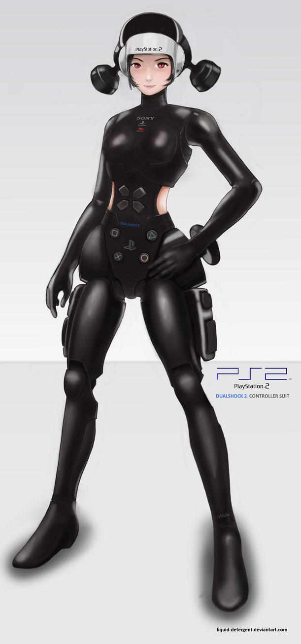 Playstation 2 controller girl by Liquid-Detergent