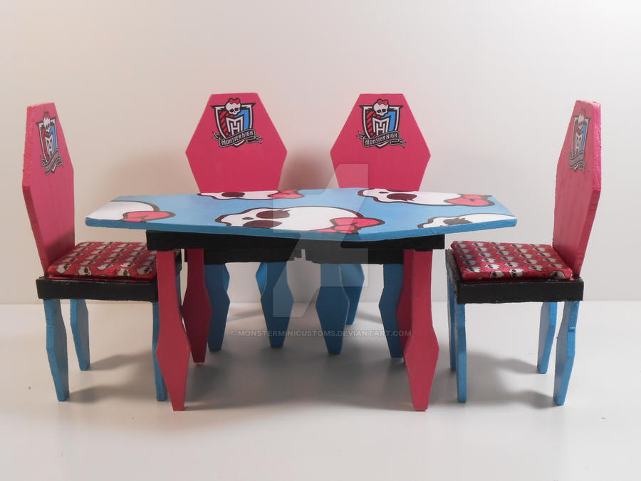 Monster High Furniture Coffin Dining Room 1 By