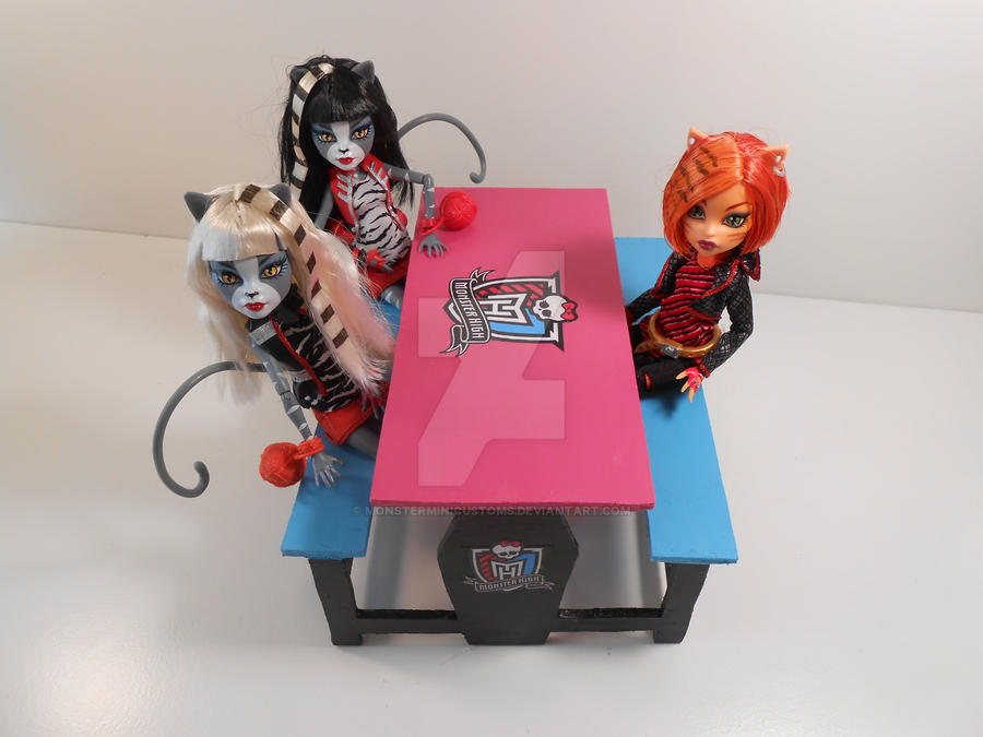 Monster High Furniture   Creepateria Lunch Room 4 By Monsterminicustoms ...