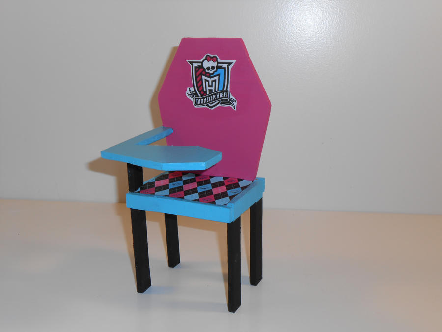 Monster High Furniture School Desk 1 By Monsterminicustoms On Deviantart