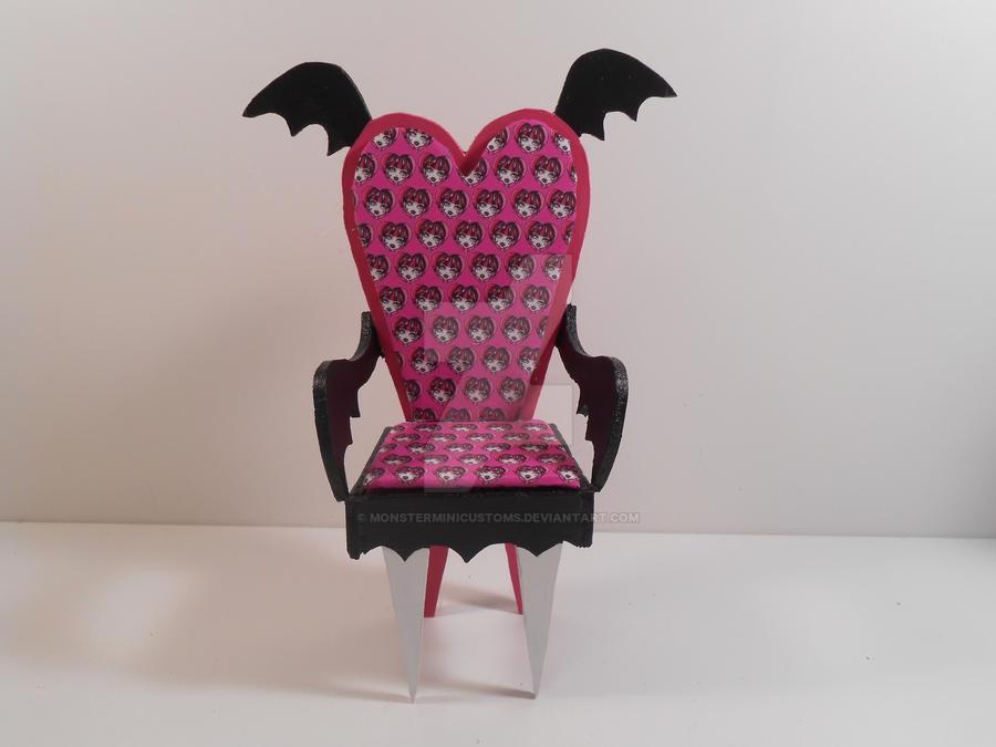 Monster High Furniture Draculaura Armchair 1 By Monsterminicustoms On Deviantart
