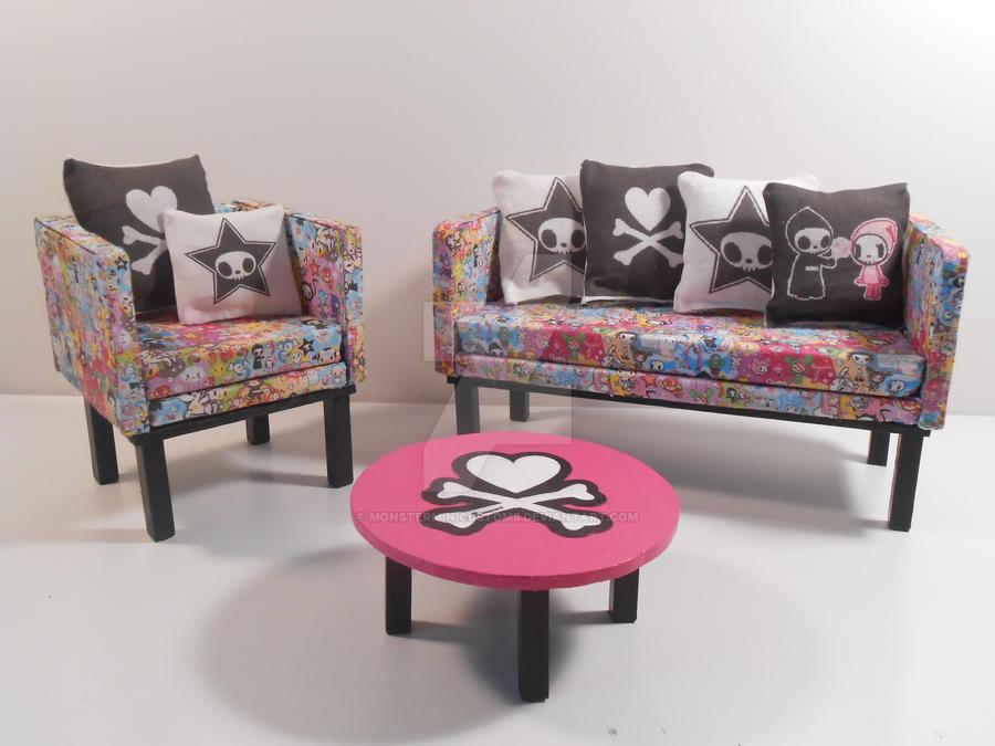 Barbie Furniture Tokidoki Living Room Set By Monsterminicustoms On Deviantart