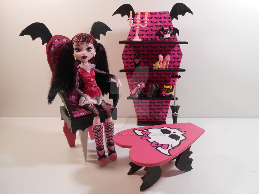 Perfect Monster High Furniture   Draculaura Furniture By Monsterminicustoms ...