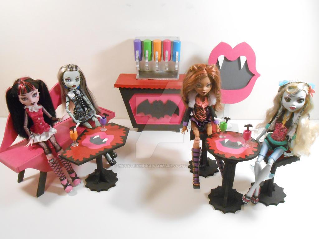 Monster High Furniture Veggie Vamp Juice Bar By Monsterminicustoms On Deviantart