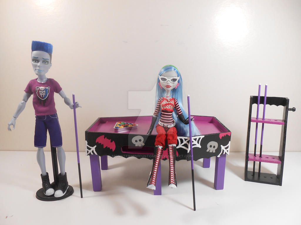Artisan Designs Pool Table ideas dining table bench pinterest modern kitchen living room interior design ideas for home Monster High Furniture Coffin Pool Table By Monsterminicustoms