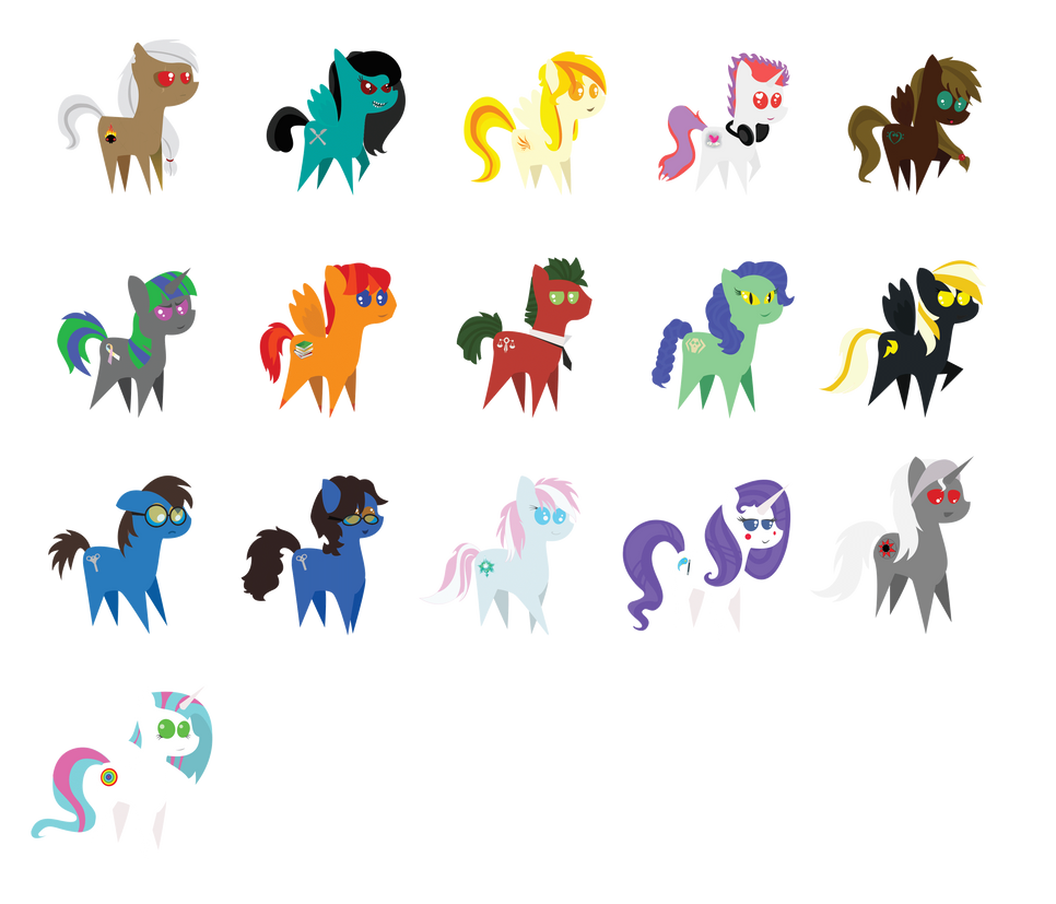 Ponies of Ponychats - Multibatch #1 by Fapony