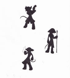 Character Pose Silhouettes by howolf12