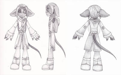 Character Turn-Around: Wik Shortfuse by howolf12