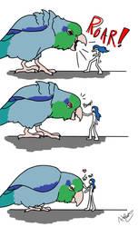 Big Little Bird by howolf12