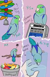 Picky Bird's Particular Tastes by howolf12