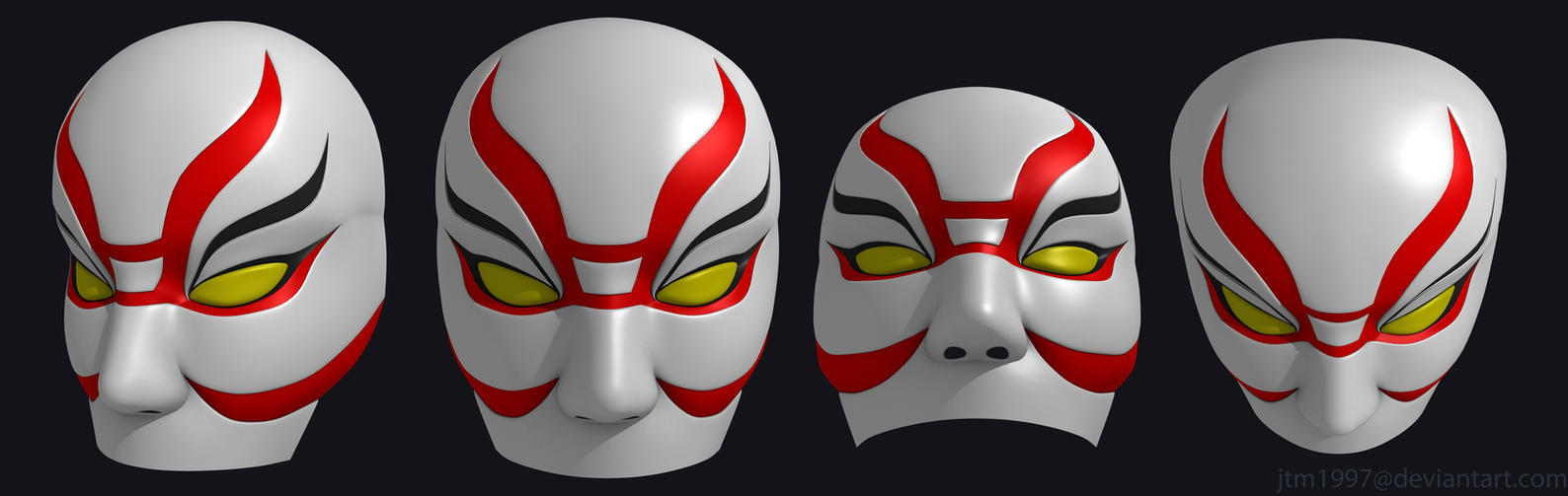 Big hero 6 villain mask by jtm1997 on deviantart for Kabuki mask template
