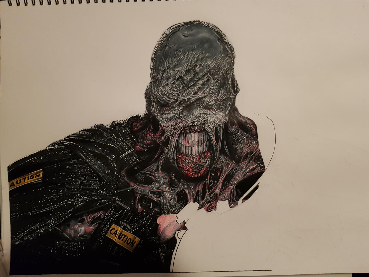 Resident Evil Nemesis Drawing 47 Hours Wip By Samgranart On