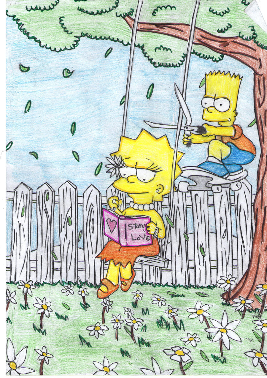 bart and lisa by fairyloves