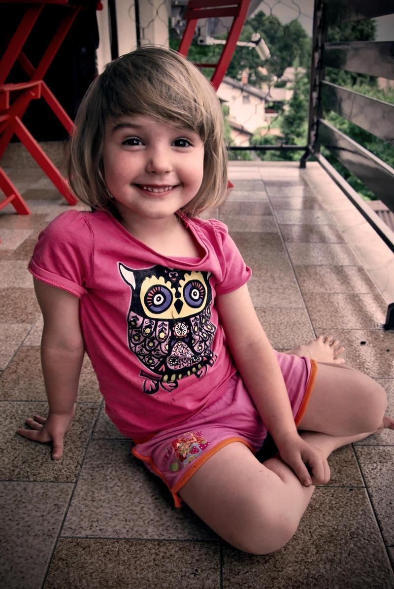 little sister ... My little sister. by leKikwi